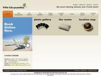 Villa Chrysanthia Website Screenshot