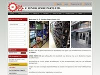 Zenios Parts Website Screenshot