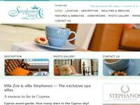Stephanos & Zoe Villa Website Screenshot