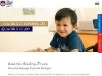 American Academy Nicosia Website Screenshot