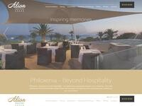 Alion Beach Hotel Website Screenshot