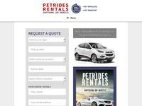 Petrides Yiannakis Rentals Website Screenshot