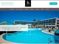 Faros Hotel Website Screenshot