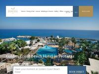 Golden Coast Hotel Website Screenshot