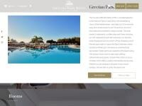 Grecian Park Hotel Website Screenshot