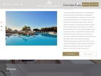 Grecian Park Hotel Website Screenshot