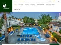 Green Bungalows Ayia Napa Website Screenshot