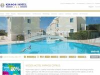 Kissos Hotel Website Screenshot