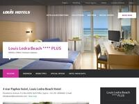 Louis Ledra Beach Hotel Website Screenshot