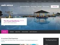 Royal Apollonia Beach hotel Website Screenshot
