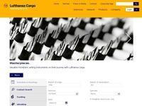 Lufthansa Cargo Website Screenshot