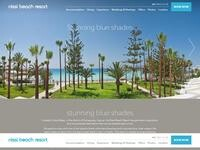 Nissi Beach Hotel Website Screenshot