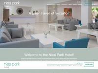 Nissi Park Hotel Website Screenshot