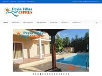Peyia Villas Cyprus Website Screenshot