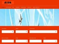 A.I.D.A. Rent A Car Website Screenshot
