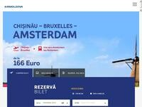 Moldavian Airlines Website Screenshot