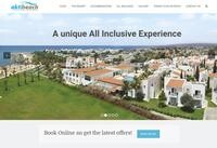 Akti Beach Village Resort Website Screenshot