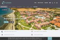 Aldiana Cyprus Website Screenshot