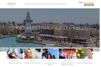 Aliathon Holiday Village Website Screenshot