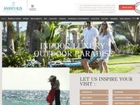 Amathus Beach Hotel Website Screenshot