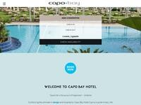 Capo Bay Hotel Website Screenshot