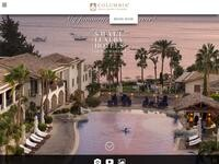 Columbia Beachotel Pissouri Website Screenshot