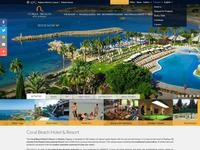 Coral Beach Hotel Website Screenshot