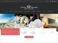 Crown Resorts Website Screenshot