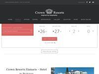 Crown Resorts Elamaris Hotel Apts Website Screenshot