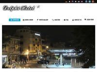 Delphi Hotel Website Screenshot