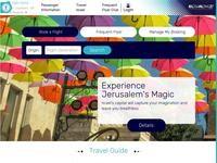 El Al -Israel Website Screenshot