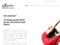 E-Motion Dance & Health Studio Website Screenshot