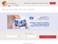 Esthetique Online Shop Website Screenshot