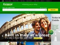EuropCar Website Screenshot