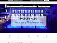 Evabelle Napa Hotel Apartments Website Screenshot