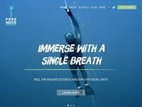 Free2Dive Website Screenshot