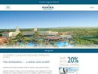Paphos Olympic Lagoon Resort Website Screenshot