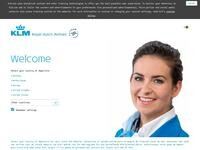 KLM Royal Dutch Airlines Website Screenshot