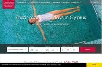 Cypria Maris Beach Hotel and Spa Website Screenshot