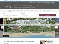 Parklane Resort & Spa Website Screenshot