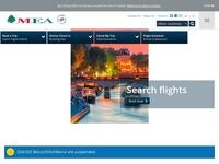 Middle East Airlines Website Screenshot