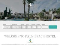Palm Beach Hotel Website Screenshot