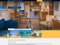 Paphos Gardens Website Screenshot