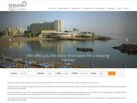 Pernera Beach Hotel Website Screenshot
