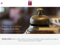 Semeli Hotel Website Screenshot