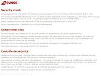 Swiss Airlines Website Screenshot