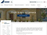 Tarom Romanian Air Transport Website Screenshot