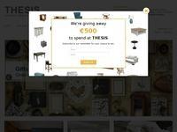 Thesis Furniture Website Screenshot