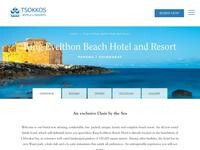 King Evelthon Beach Hotel & Resort Website Screenshot