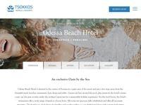 Odessa Hotel Website Screenshot